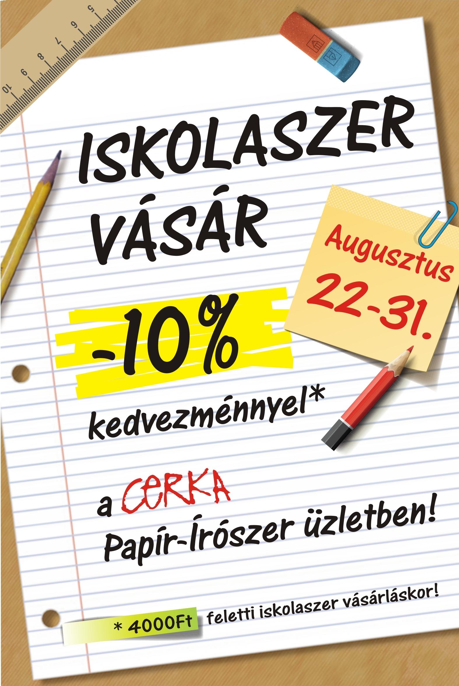 Iskolaszer vásár -10%